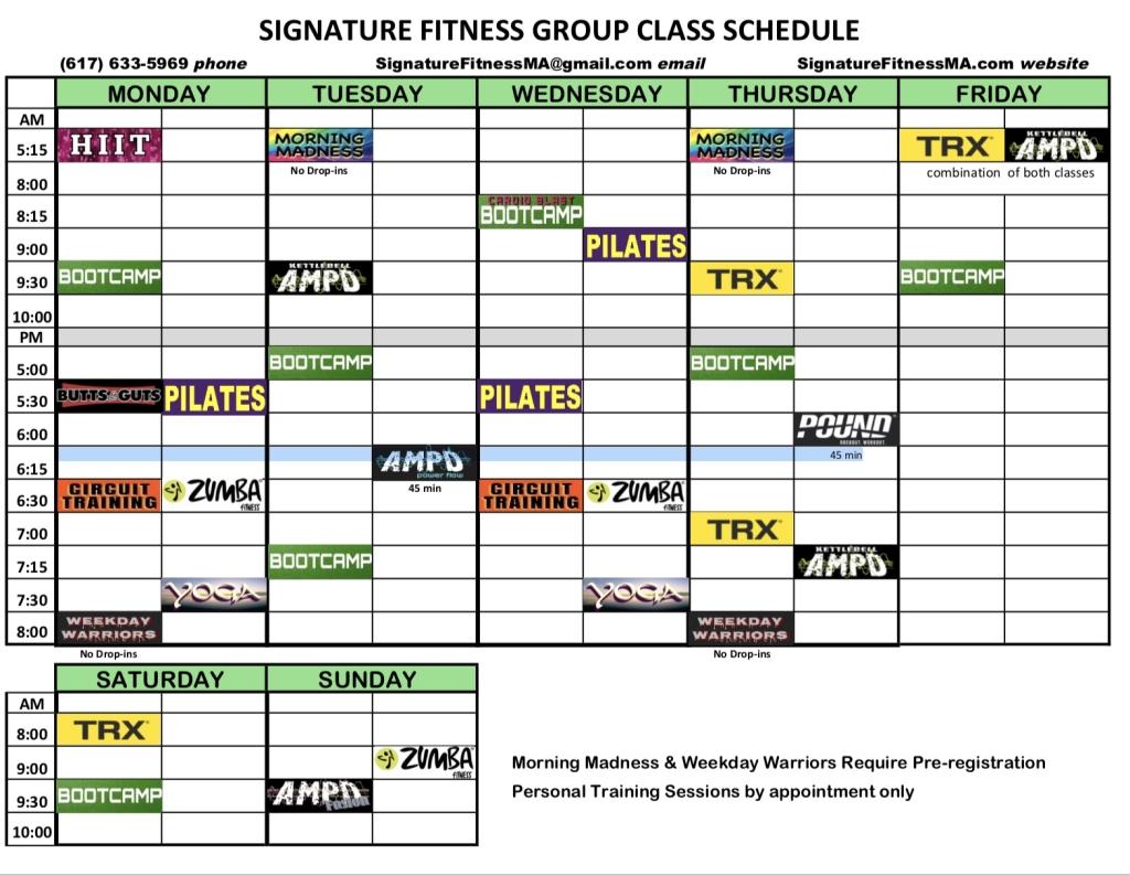 Schedule Jan 2018